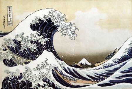 Hokusai - Große Welle von Kanagawa